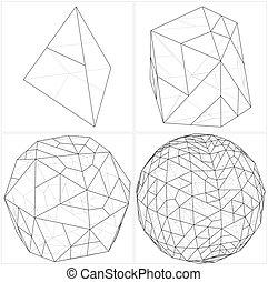 esfera, Pelota, tetraedro