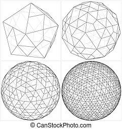 icosahedron, esfera, Pelota