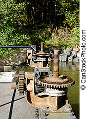 Flood-Gate Gearbox - Rusty gearbox on Akerselva river...