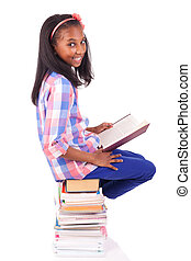 young african Student isolated on white background