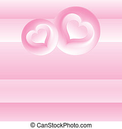 Pink Romantic Background. Vector Template