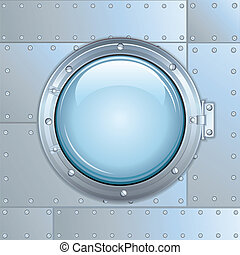 Ship or Rocket Window. Vector Image - Illustration of Ship...