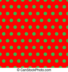Christmas Dots - A background pattern of polka dots in...