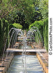 Hort del Rei gardens in Palma de Mallorca - Fountain of Hort...