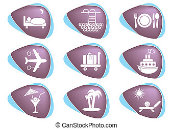 Traveling and accommodation icons