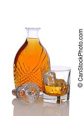 Decanter with Glass of Scotch - Fancy decanter and a glass...