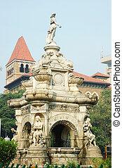 Famous landmark of Mumbai (Bombay) - Flora fountain