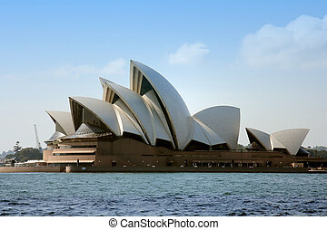 Sydney Opera House from over the harbour