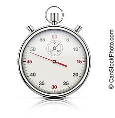 Realistic stopwatch - illustration of realistic stopwatch or...