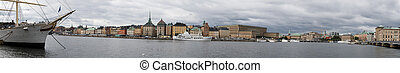 Panorama of Stockholm - Ship fore an panorama of Stockholm...