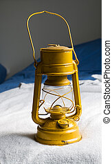 Old kerosene lamp - Yellow Kerosene lamp or paraffin lamp