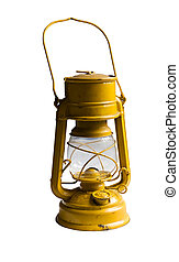 Old kerosene lamp - Yellow Kerosene lamp or paraffin lamp...