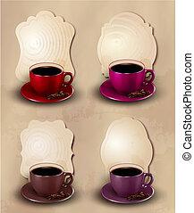 Coffee design template. Vector illustration.