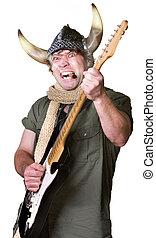 Heavy Metal Guitarist - Cigar smoking heavy metal guitarist...