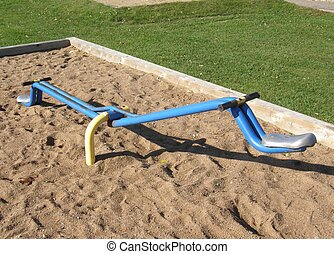 teeter totter in public playground