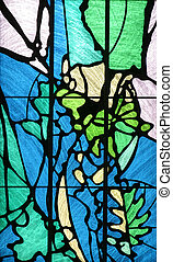 manchado, vidro, igreja, Janela