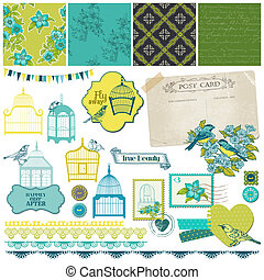 Birds and Birdcages Collection - for design or scrapbook -...