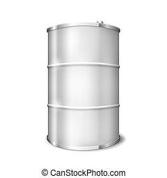 Metal Barrel - Metal barrel over white background