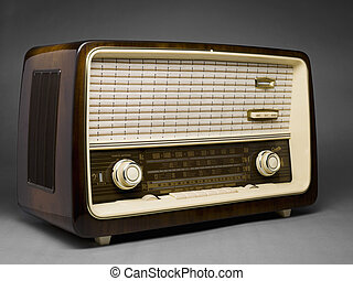 old radio - Old radio in a full length image