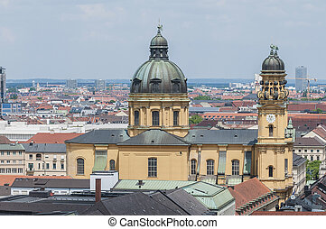 The Theatinerkirche St Kajetan in Munich, Germany - The...