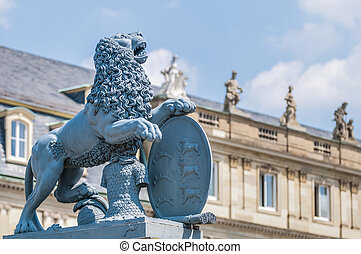 New Palace at Schlossplatz in Stuttgart, Germany - The New...