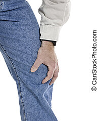 osteoarthritis pain - Senior man with osteoarthritis pain