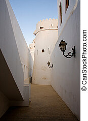 Alley in old fort in UAE - Interior alley in old fort in Abu...