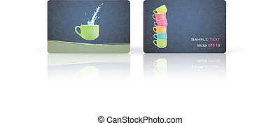 Cup printed on Business card