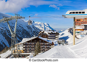 Mountain ski resort Hochgurgl Austria - nature and sport...