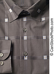 polo shirt - Closed up brown polo shirt