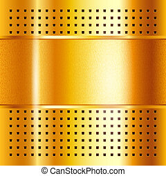 Gold template, metallic background, vector illustration 10eps