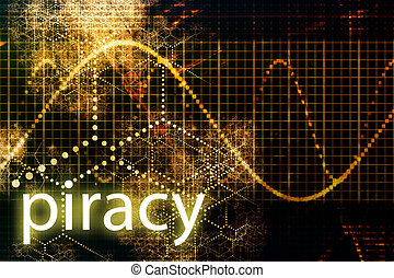 Piracy Abstract Technology Business Concept Wallpaper...