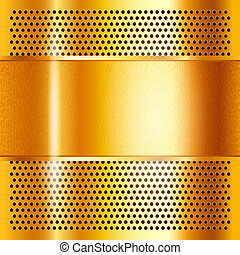 Metal sheet gold, vector illustration 10eps