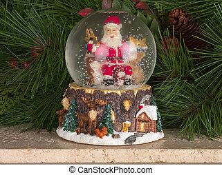 santa on christmas ball