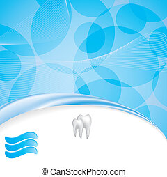 Abstract vector dental illustration of teeth