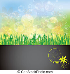 Abstract spring summer background with bubble