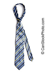 blue necktie - the blue necktie on white background