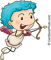 Mr cupid - Ilustration of Mr cupid on a white background