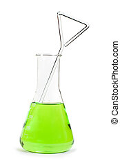 Laboratory beaker filled with liquid substances - Laboratory...