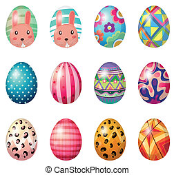 Painted easter eggs - Illustration of painted easter eggs on...