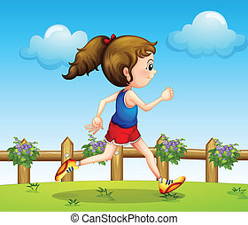 A runner - Illustration of a runner at the bridge