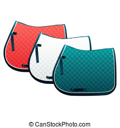 Saddle pads - Vector clip art illustration of saddle pads,...