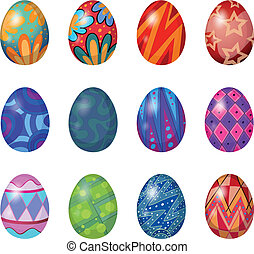 A dozen of easter eggs - Illustration of a dozen of easter...