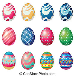 Easter eggs for the easter Sunday egg hunt - Illustration of...