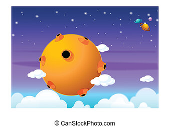 Universe - This illustration depicts a young child's dream...