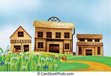 Houses in the neighborhood