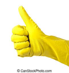 Rodzina, Żółty, Rękawiczki