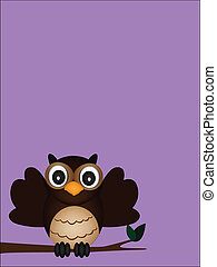 happy owl on the day vector of illustration
