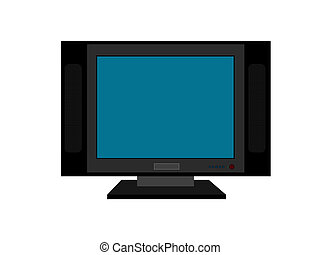 flat screen television against white background