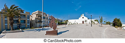 Sant Sebastia church at Sitges, Spain - Sant Sebastia church...
